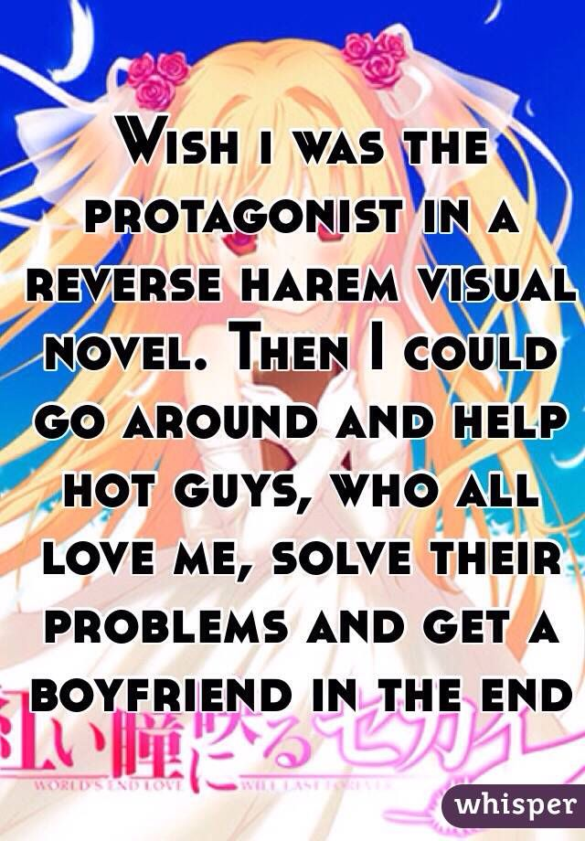 I wish i was the protagonist in a reverse harem visual