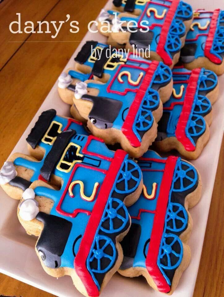 Thomas The Train Cookies For A Toddler Birthday I Wish