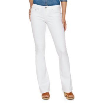 White bootcut jeans for juniors