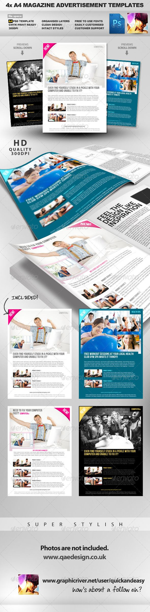 product service a psd magazine advertisement business women magazine advertisement layout clean crisp easy multiuse psd magazine advert template perfect for any ty