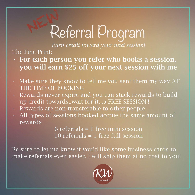 referral program | ashley hamilton salon | salons, salon marketing