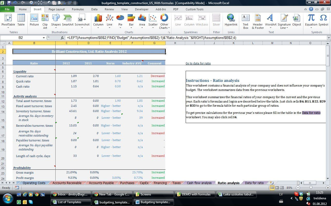 Accounting Software Templates Free Excel templates