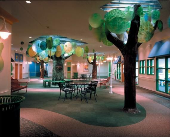 Indoor park at Memorial Hermann Hospital, Houston © Photography by