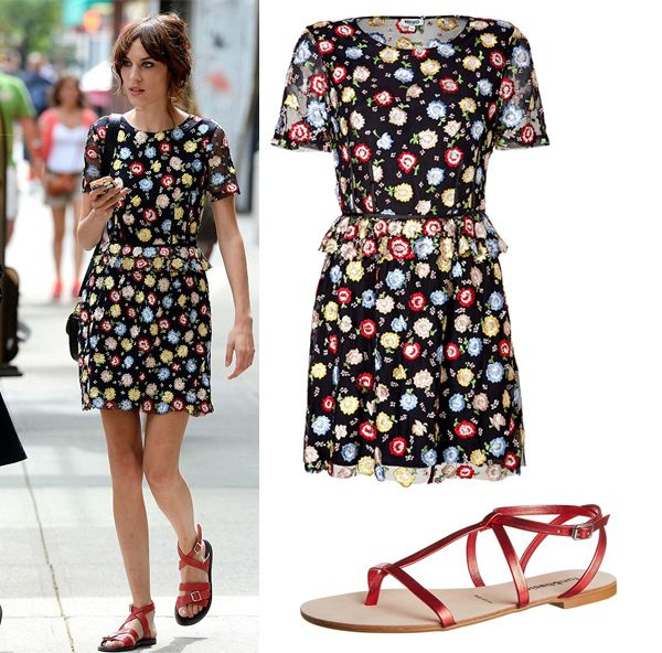 Get Alexa Chung's floral Kenzo look | Sporty Ruler or ...