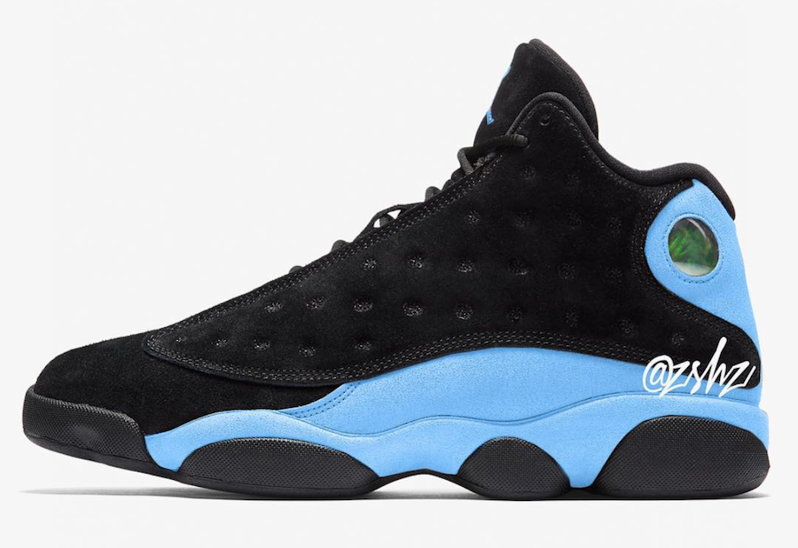 sale retailer 3360e bd9c4 Air Jordan 13 Black Light Blue (414571-030) UNC like Black upper and