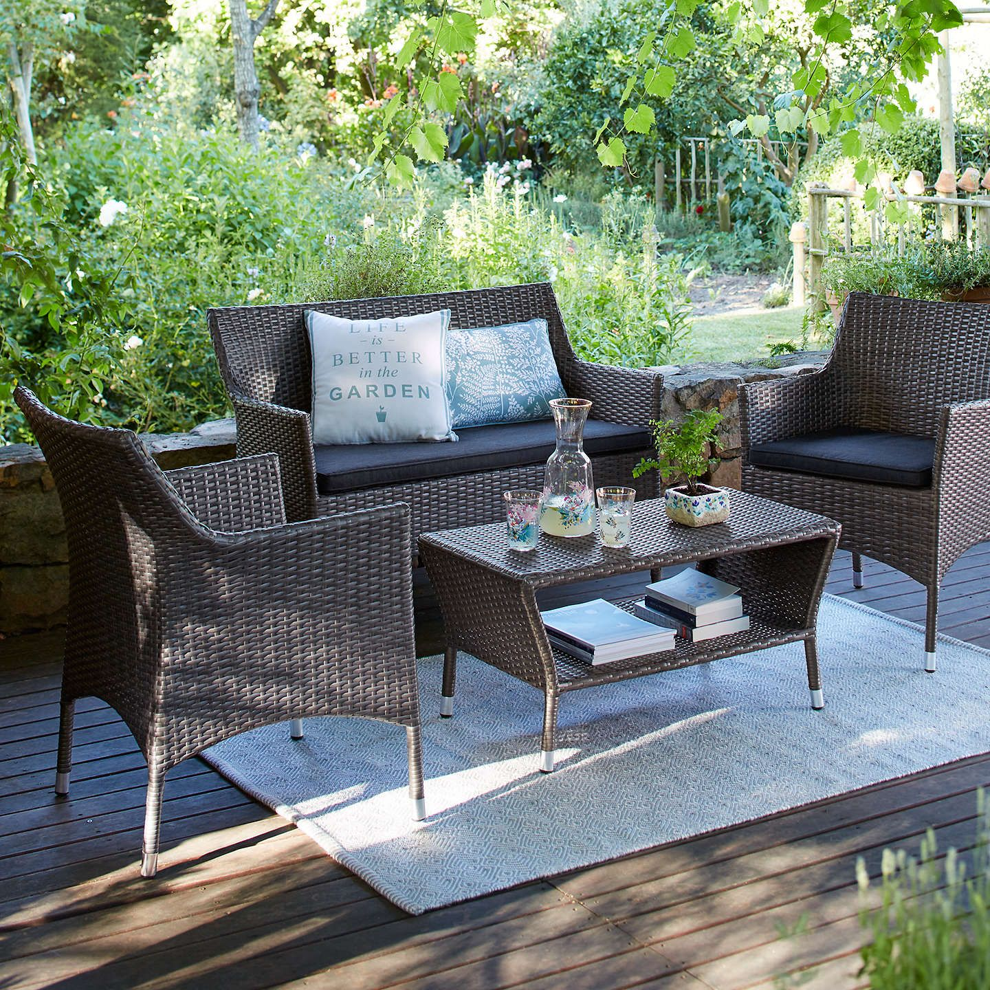 Oasis 4 Seater Garden Lounging Table And Chairs Set: John Lewis Almeria Garden 4 Seater Table And Chairs