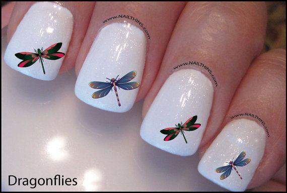 Dragonflies Nail Decal Design Art