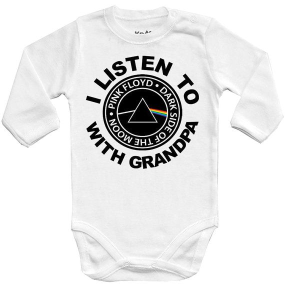 Pink Floyd Moon Black Infant Baby Romper