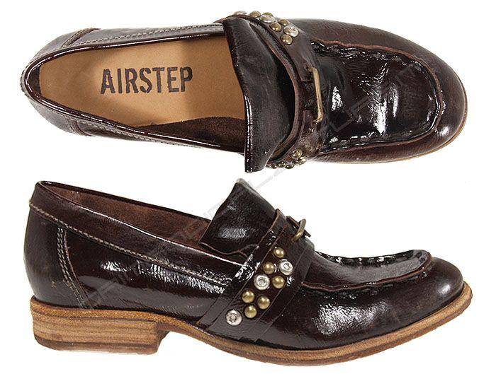 Airstep mocassini vernice moro 134106