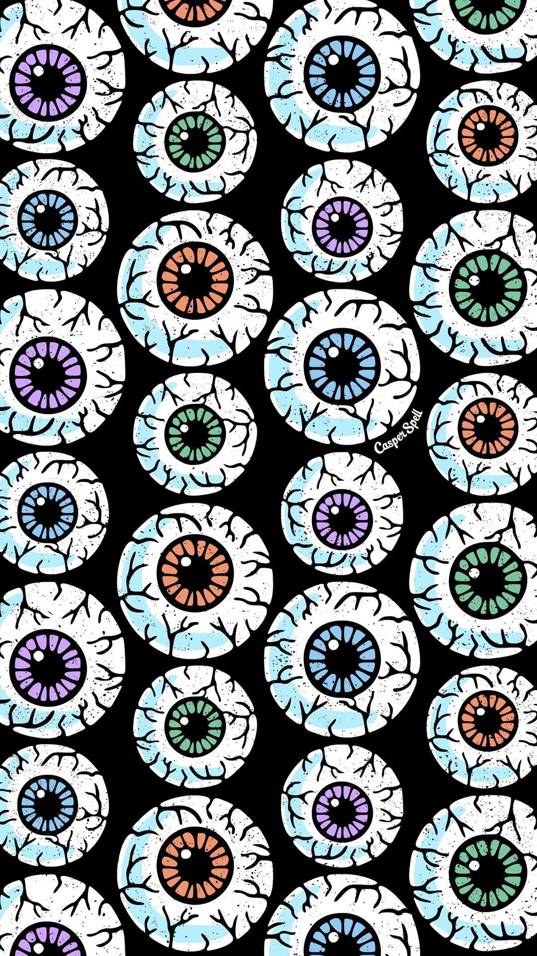 Eyes eyeballs pattern patterns repeat wallpaper