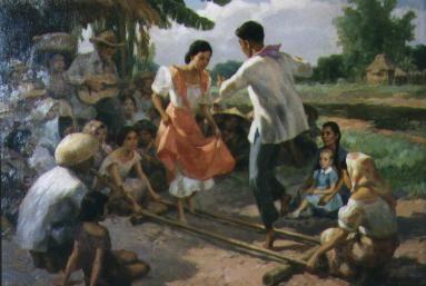 Dances Tinikling Philippine Folk Dance The National Dance Philippine Art Filipino Art Painting