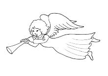 Fliegender Engel Vorlage Engel Vorlage Malvorlagen Ausmalbilder