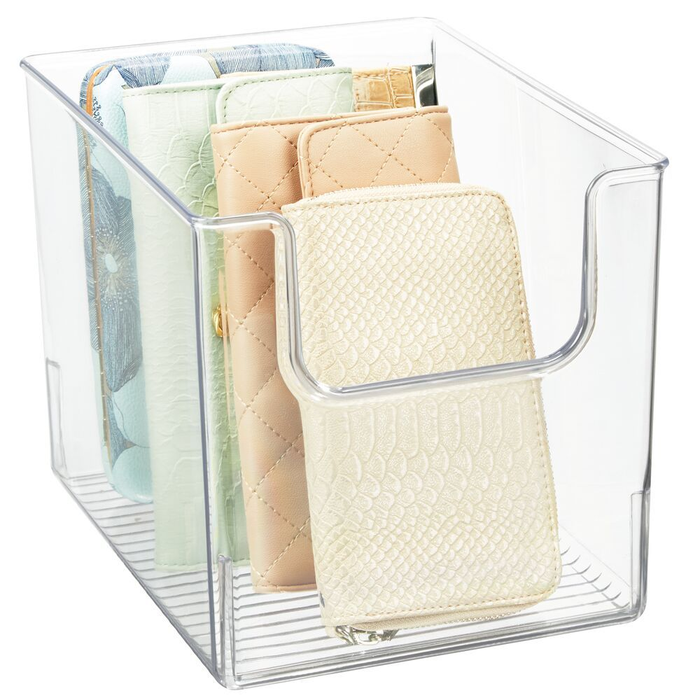 Wide Plastic Closet Storage Organizer Bin 10 X 8 X 7 75 In 2020 Bedroom Closet Storage Closet Storage Cube Furniture
