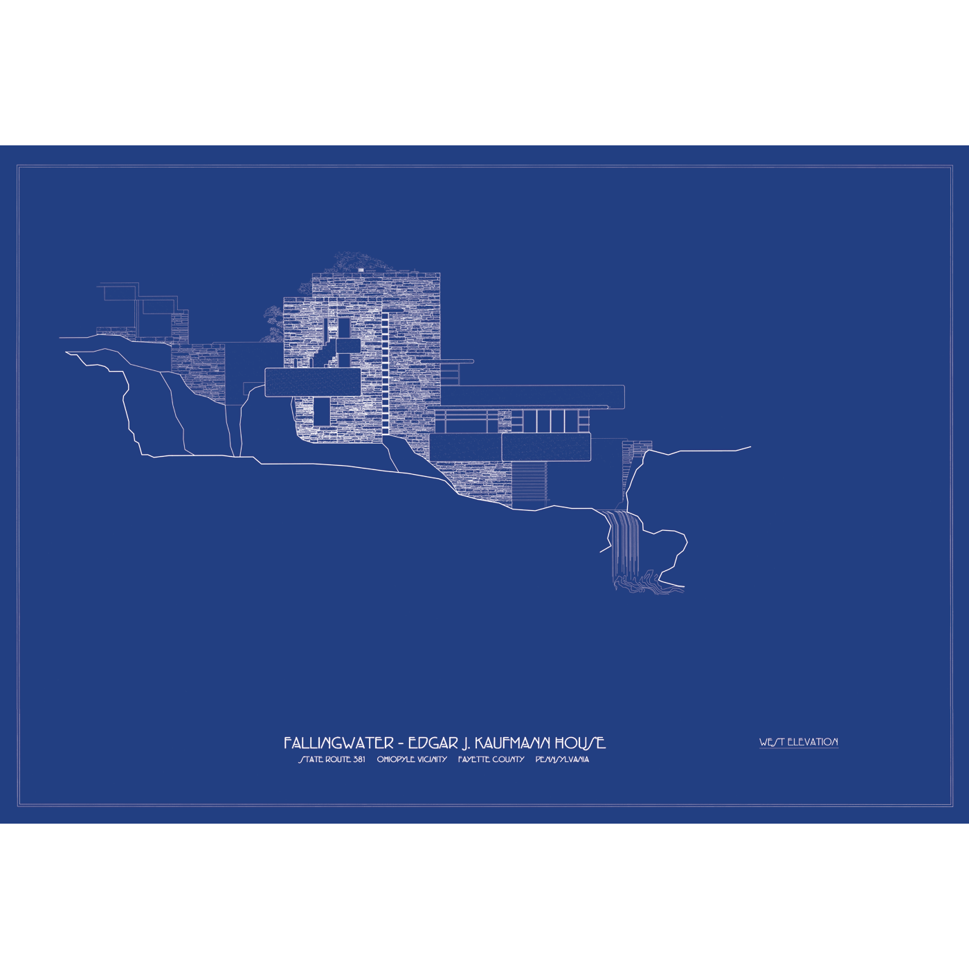 Blueprint art would be cool frank lloyd wright fallingwater west blueprint art would be cool frank lloyd wright fallingwater west malvernweather Image collections