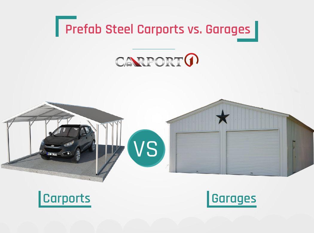 Prefab Steel Carports vs. Garages | Steel carports ...