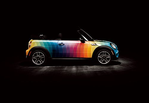 This Mini Cooper Looks Awesome With A Geometric Design On It - Best automobile graphics and patterns