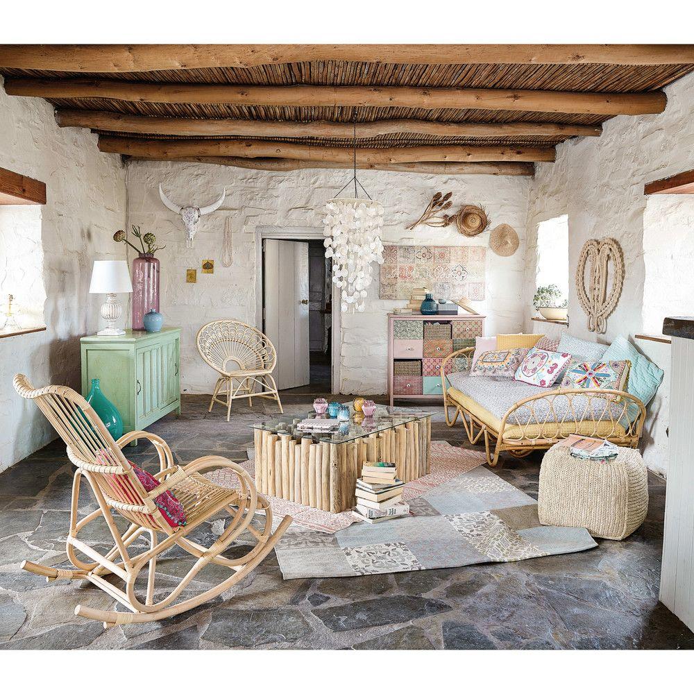 Toile motifs carreaux de ciment xcm maisons du monde maison