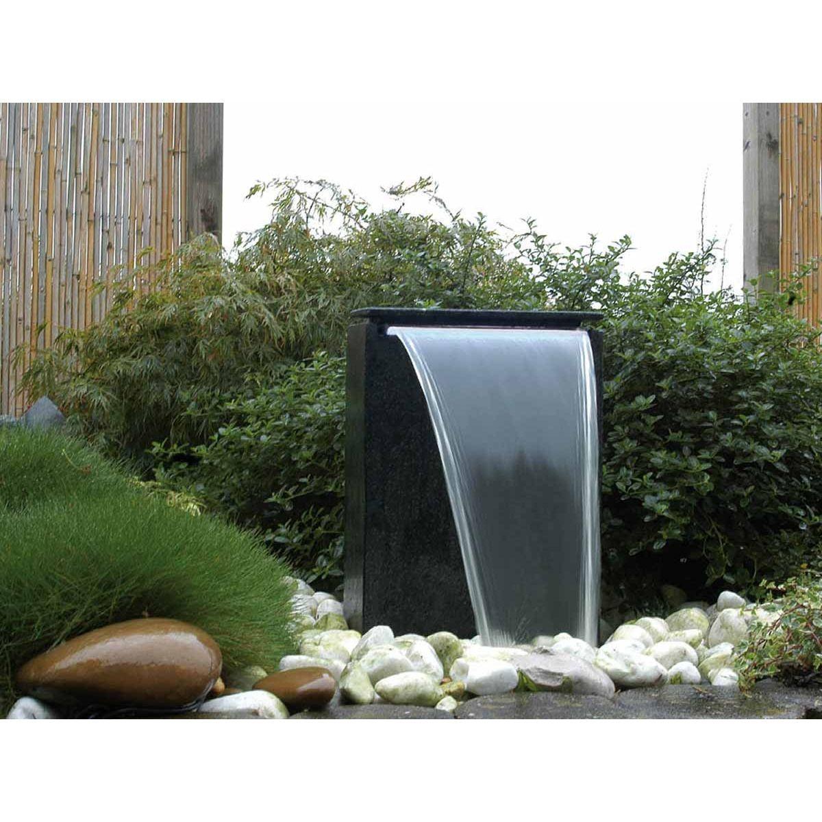 Photo Fontaine De Jardin fontaine de jardin vicenza avec chute d'eau led - taille