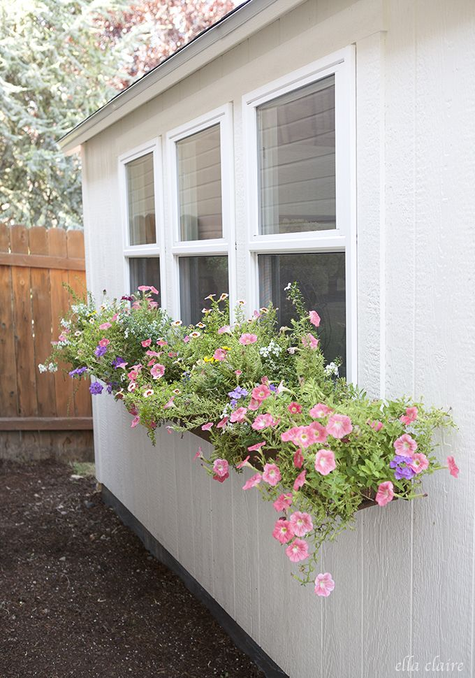 She Shed DIY Window Boxes How