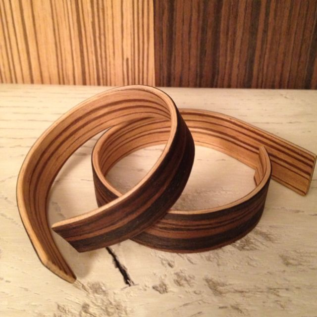 Bracelet quot laminated wood veneers arte jewelry by