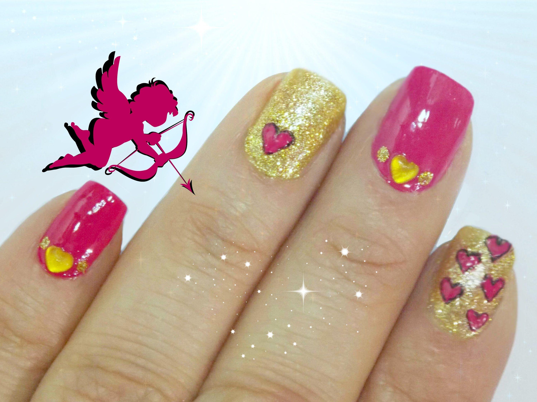 Uñas de Corazones - Diseño de uñas decoradas para San Valentin. El ...
