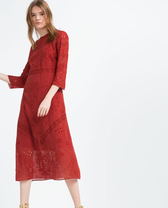 ea5001fd Image 2 of EMBROIDERED DRESS from Zara | My Style Pinboard in 2019 ...