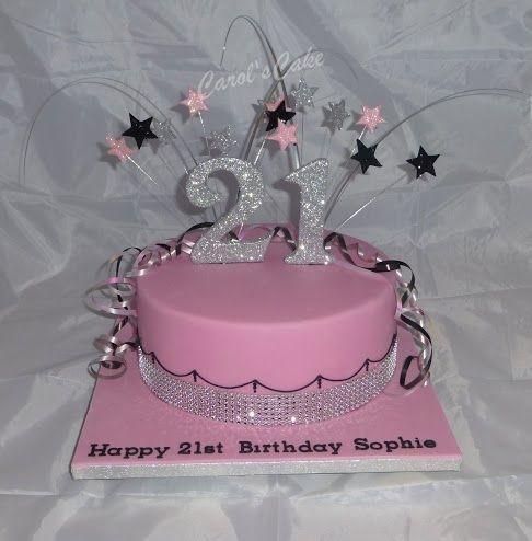 Cool Bling Birthday Cake Pink Bling Cake Glitter Birthday Cake Birthday Cards Printable Inklcafe Filternl