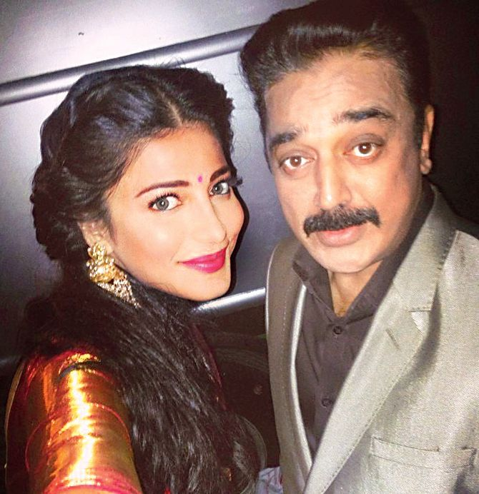 Shruti Haasan Shared A #selfie With Her Superstar Dad