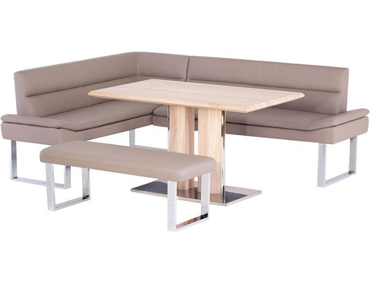 Rhf Corner Sofa Dining Table Bench Set