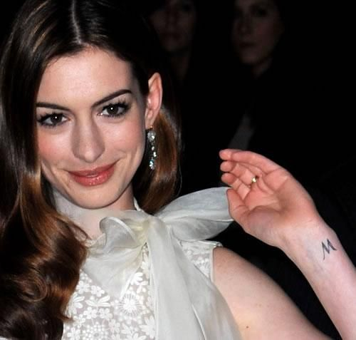 Anne Hathaway Real Name: First Tattoo Designs Is On Her Inner Wrist Showing