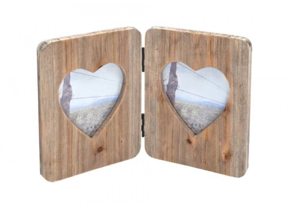 A lovely double picture frame, made from sustainably sourced wood ...