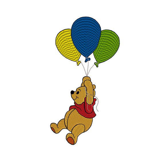 Winnie The Pooh Flying Balloons Machine By Stitcherycomplete