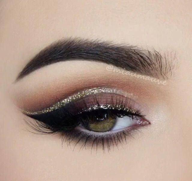 3be3da8ea85 Warm sparkle cut crease eye makeup | Makeup | Eye makeup, Makeup ...