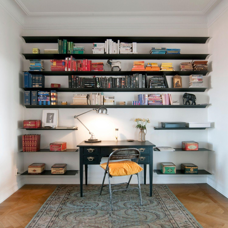 Exilis Long Shelving Black Minimalist Home Minimalist Bookshelves Wall Mounted Bookshelves