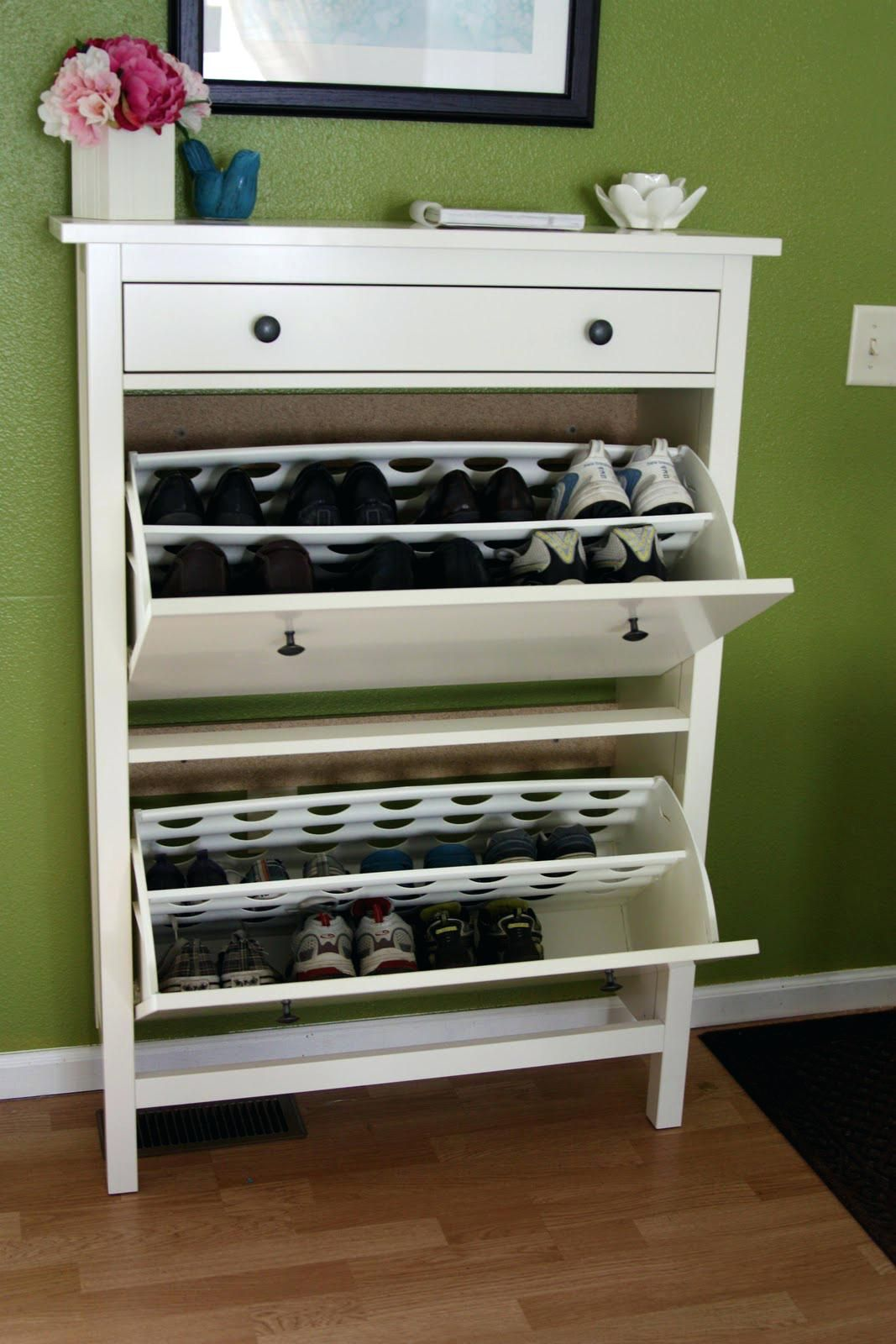 Entry hallway storage ideas  Pin by The Scrapbook Studio on For the Home  Pinterest  Diy shoe