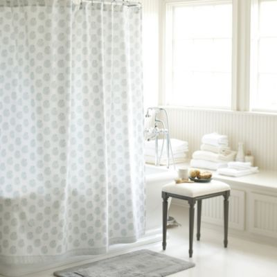 Ava Block Print Shower Curtain Spa Ballard Designs Printed