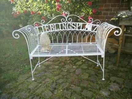 Sommerangebot: 2-sitzige Gartenbank Metall Lieblingsplatz weiss in ...