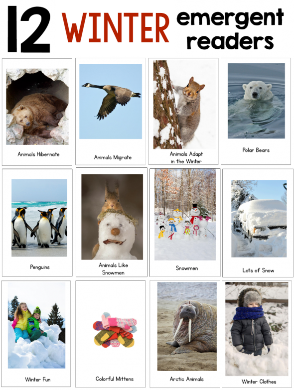 New! Winter Theme Pack for Preschool & Kindergarten