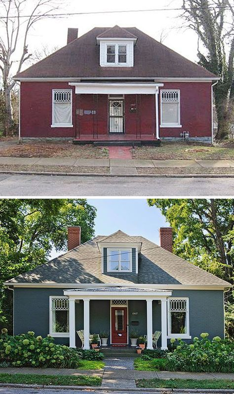 Terrific Before And After Home Exterior Architecture