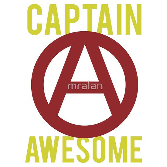 #Captain #Awesome Funny #Tshirt & Stickers