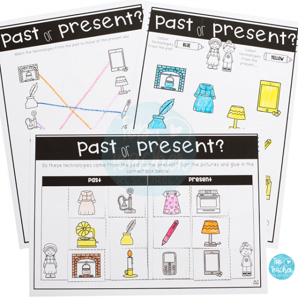 Past and Present worksheets for your history lesson! | Top Teacher ...