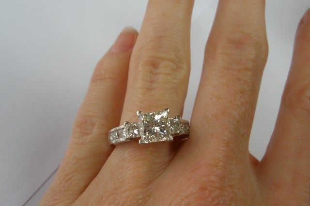 35TCW Princess Cut Diamond Engagement Ring Used Engagement Rings