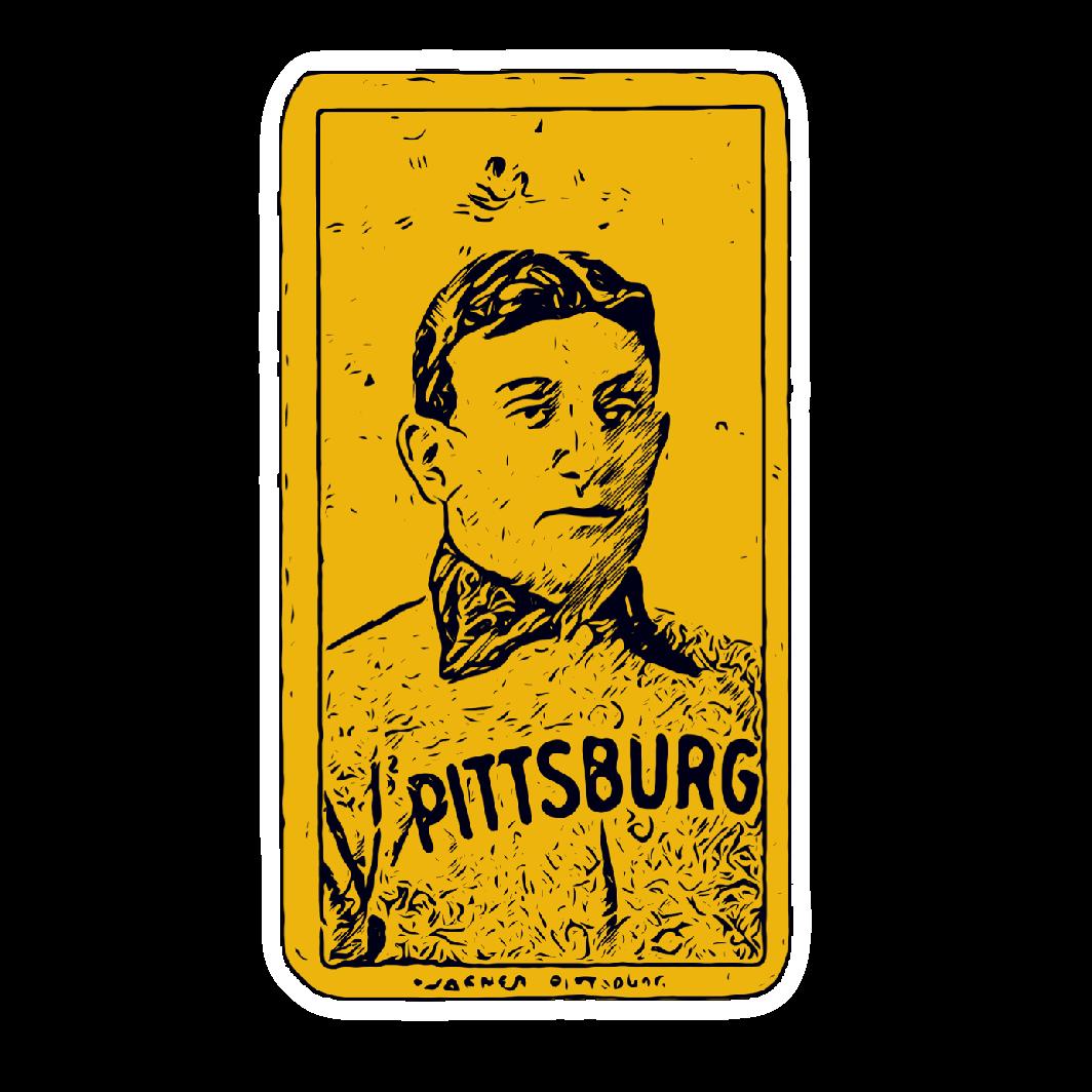 Honus wagner pittsburgh baseball sticker