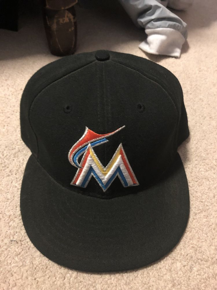 07ca950b8b08e Miami Marlins New Era 59Fifty Baseball Hat Fitted Size 7 3 4 Wool  fashion   clothing  shoes  accessories  mensaccessories  hats (ebay link)