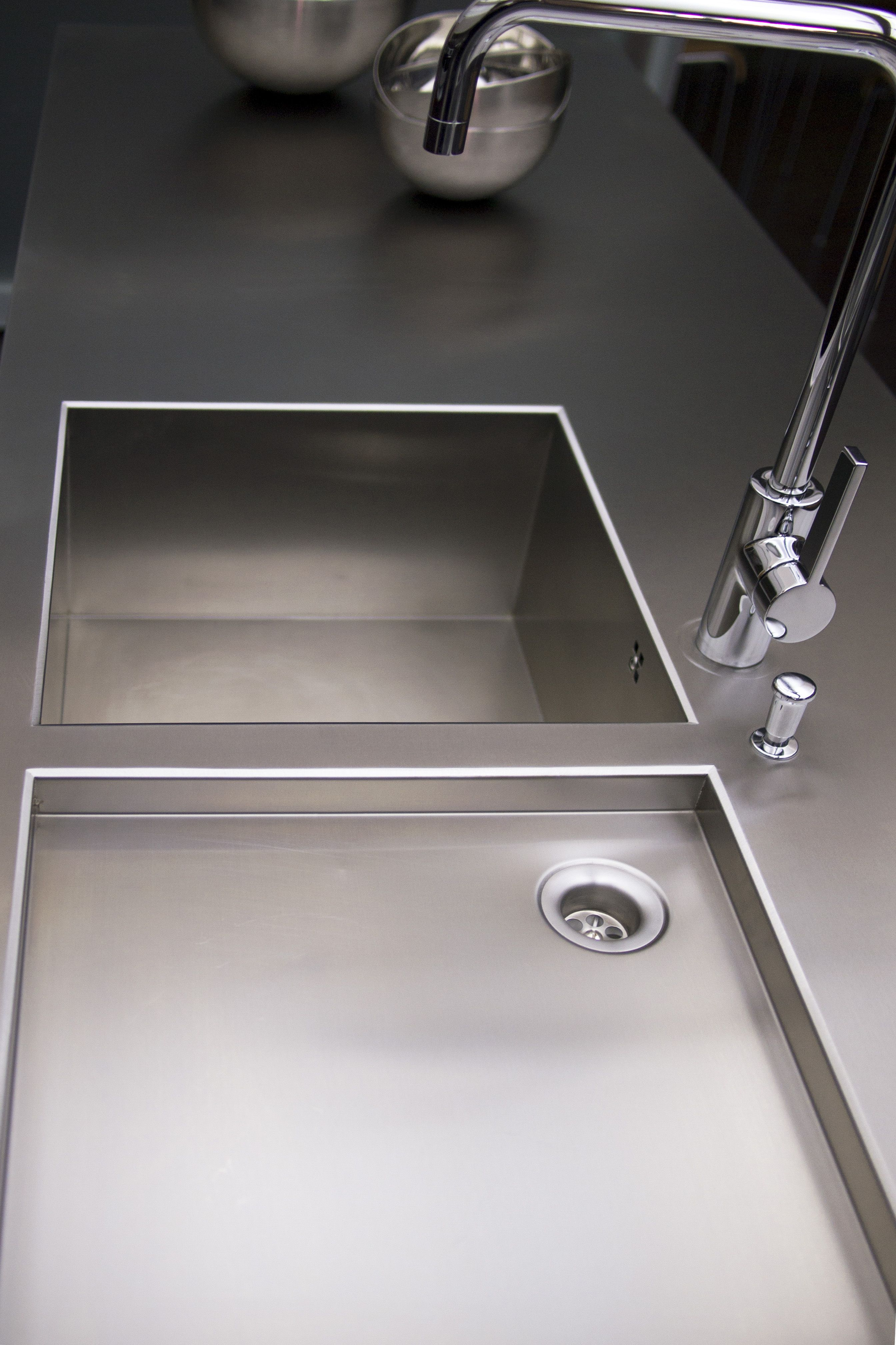 Of storage both behind the worktop amp cooker and below the sinks - Inox Sink And Worktop In One Piece Only