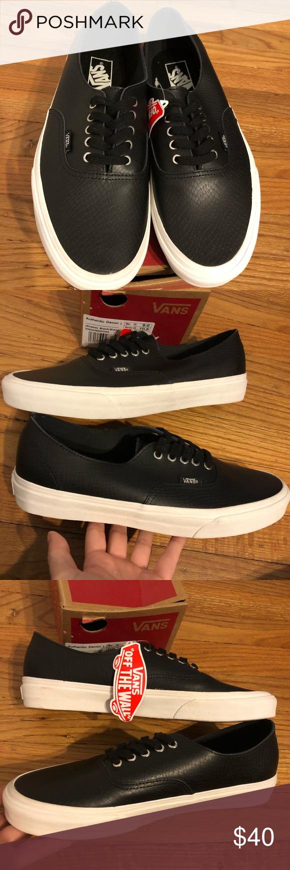 00692fbf0b NewinBox Vans Authentic Snake Skin Leather Unisex New in Box! 👀 Never  worn! 👀