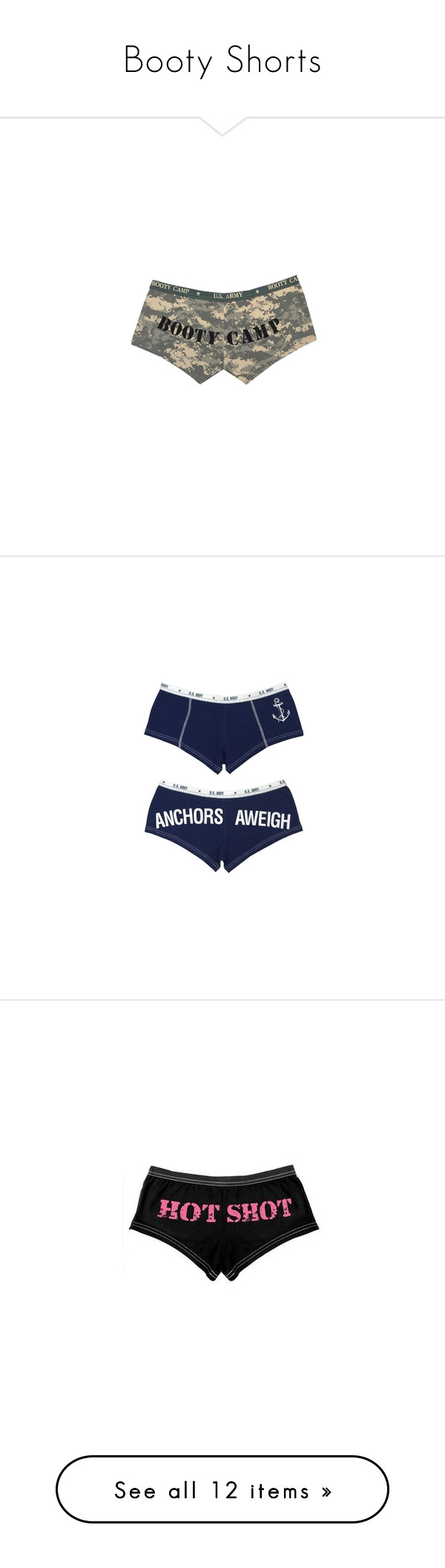 """""""Booty Shorts"""" by kyliee-moore ❤ liked on Polyvore featuring intimates, panties, underwear, shorts, clothes., underclothes, rothco, bottoms, lingerie and pants"""