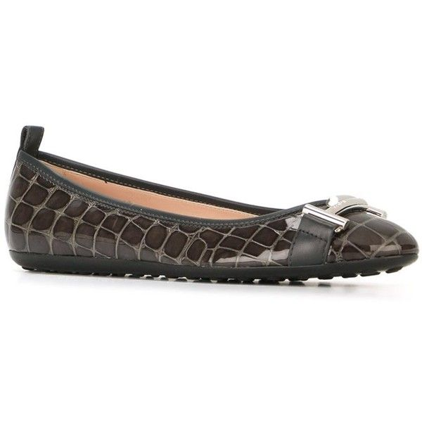 Pre-owned - Crocodile flats Tod's