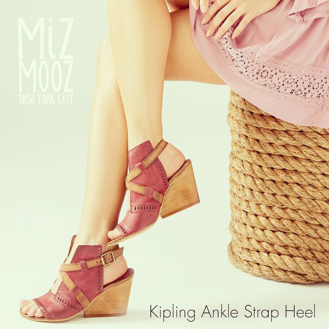 6f183344707 The Miz Mooz Kipling is a wedge sandal built for attention. Featuring  crisscrossing leather straps