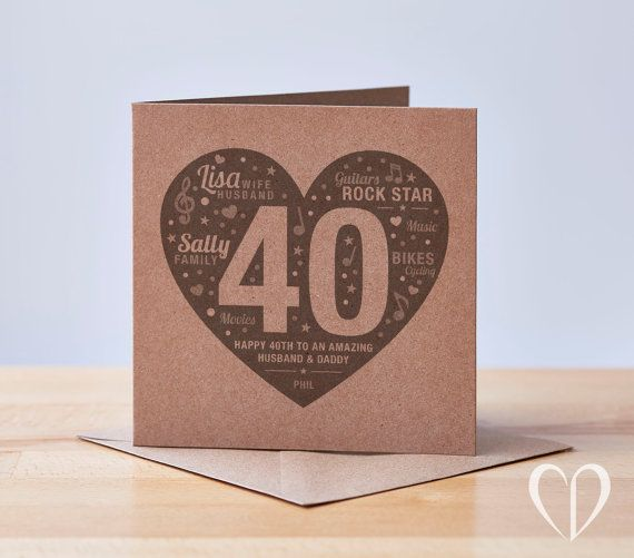 Personalised 40th Birthday Card Happy 40th Birthday Card Etsy 40th Birthday Cards 50th Birthday Cards Special Birthday Cards